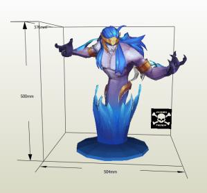 Poseidon papercraft