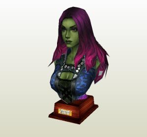 Gamora papercraft