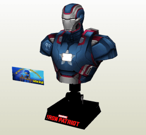 Busto Iron Patriot papercraft