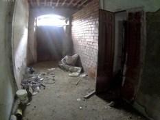 Ahorcado de Cantabria - la luz entra por lo que era antes una ventana