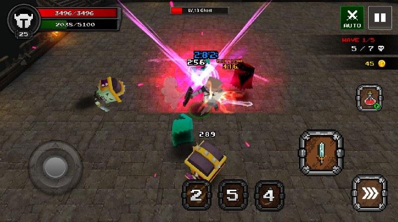 Pixel F Blade - 3D Fantasy rpg APK MOD imagen 4