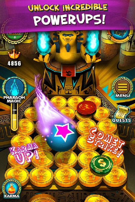 Pharaoh Gold Coin Party Dozer APK MOD imagen 3