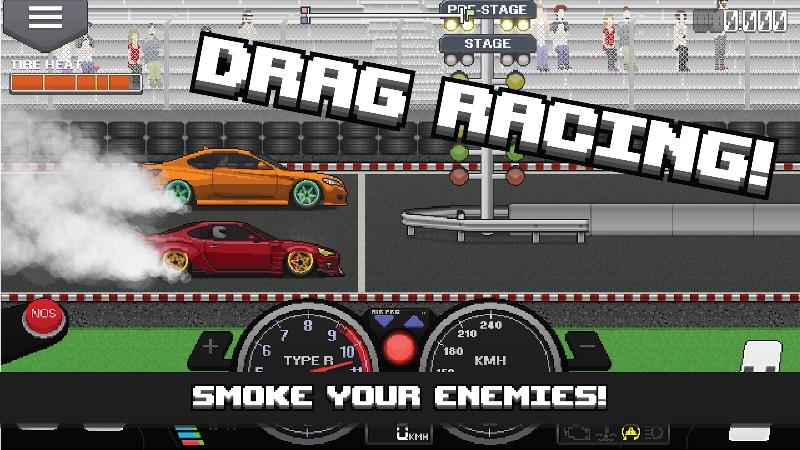 Pixel Car Racer APK MOD imagen 1