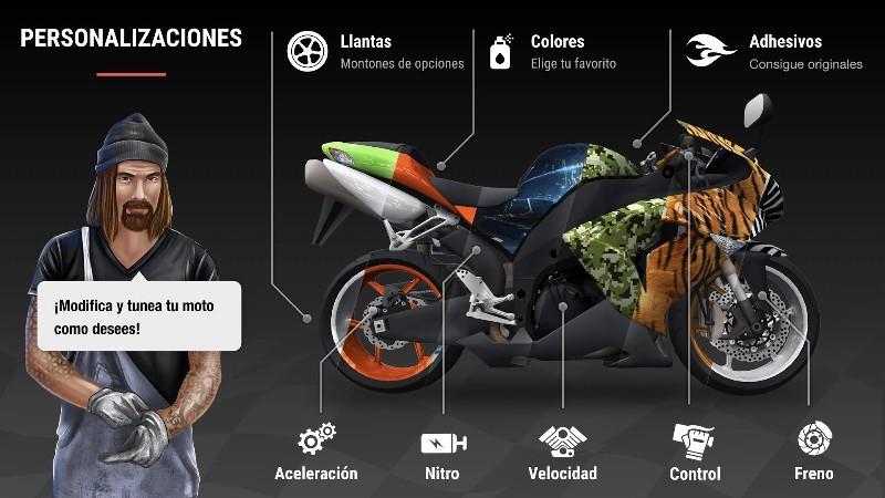 Racing Fever Moto APK MOD imagen 4