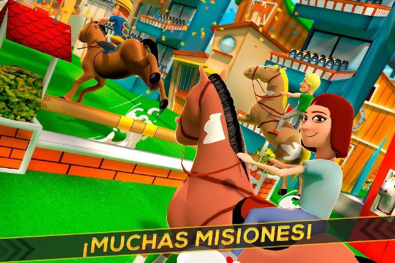 Cartoon Horse Riding Game APK MOD imagen 2