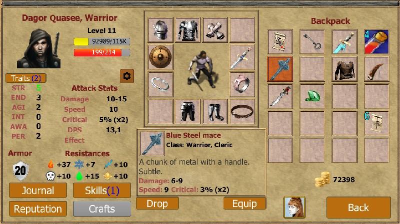 Exiled Kingdoms RPG APK MOD imagen 3