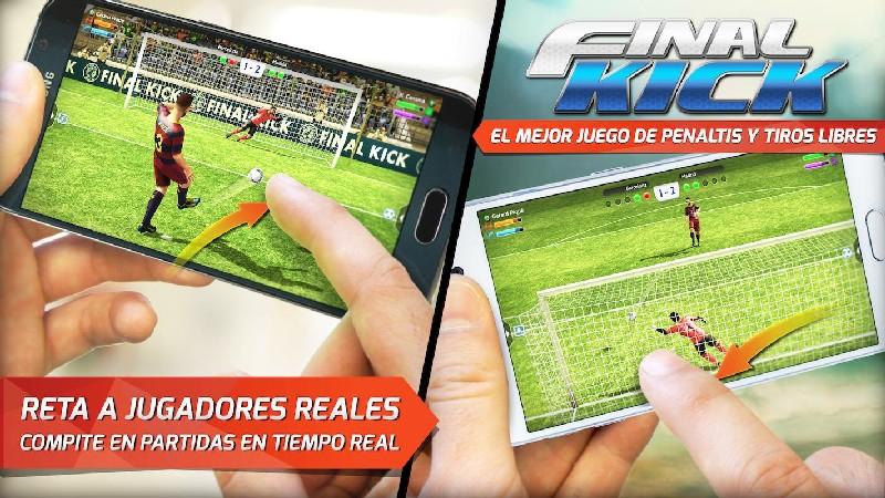 Final kick: Online football APK MOD imagen 1