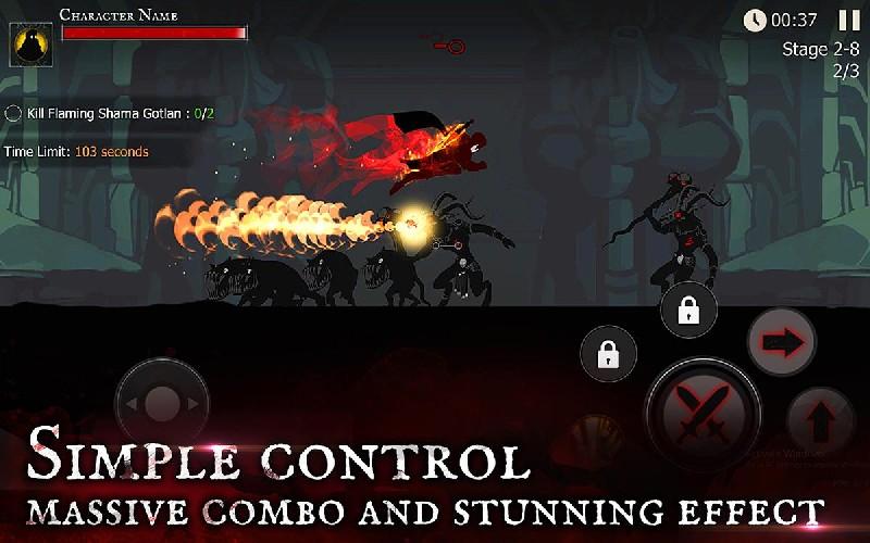 Shadow of Death Dark Knight - Stickman Fighting APK MOD imagen 3