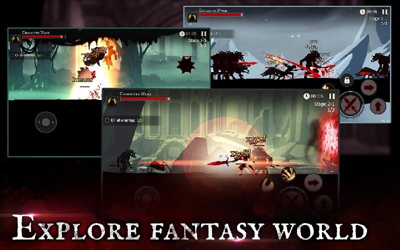 Shadow of Death Dark Knight - Stickman Fighting APK MOD imagen 4