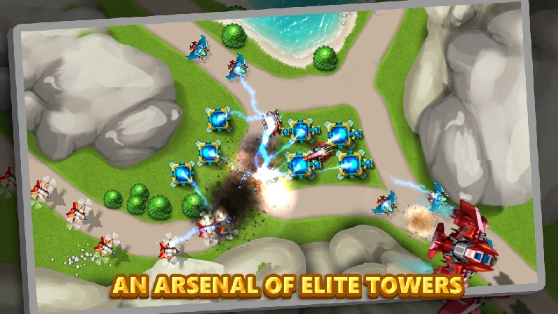 Tower Defense Alien War TD 2 APK MOD imagen 5