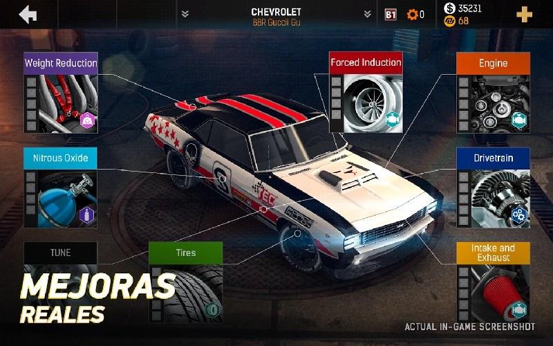 Nitro Nation Drag Racing APK MOD imagen 3