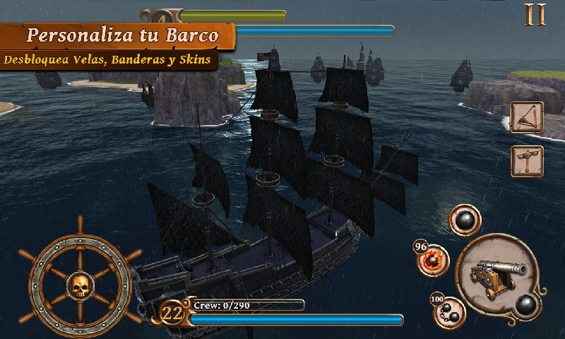 Ships of Battle Age of Pirates APK MOD imagen 2