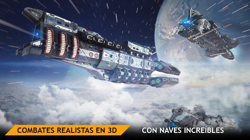 Planet Commander Online Spaceship Galaxy Battles APK MOD imagen 3