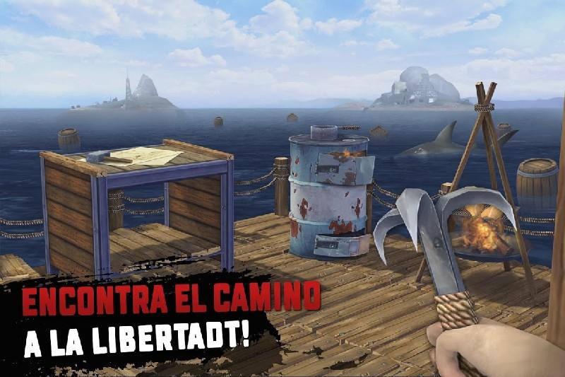 Raft Survival Supervivencia en la balsa APK MOD imagen 4