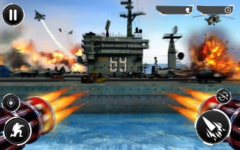 Navy Gunner Shoot War 3D APK MOD imagen 5