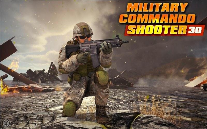 Military Commando Shooter 3D APK MOD imagen 1