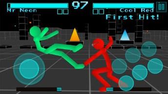 Stickman Fighting Neon Warriors APK MOD imagen 1