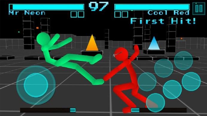 Stickman Fighting Neon Warriors APK MOD imagen 5