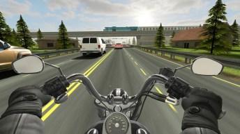 Traffic Rider APK MOD imagen 1