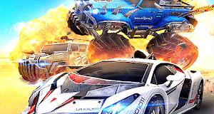 Overload Multiplayer Battle Car Shooting Game APK MOD