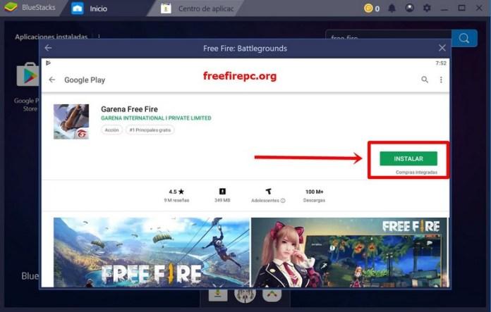 google play instalar free fire