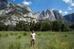 Ao fundo a Yosemite Fall