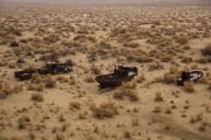 Barcos no meio do deserto