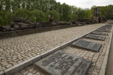 Memorial em Birkenau...
