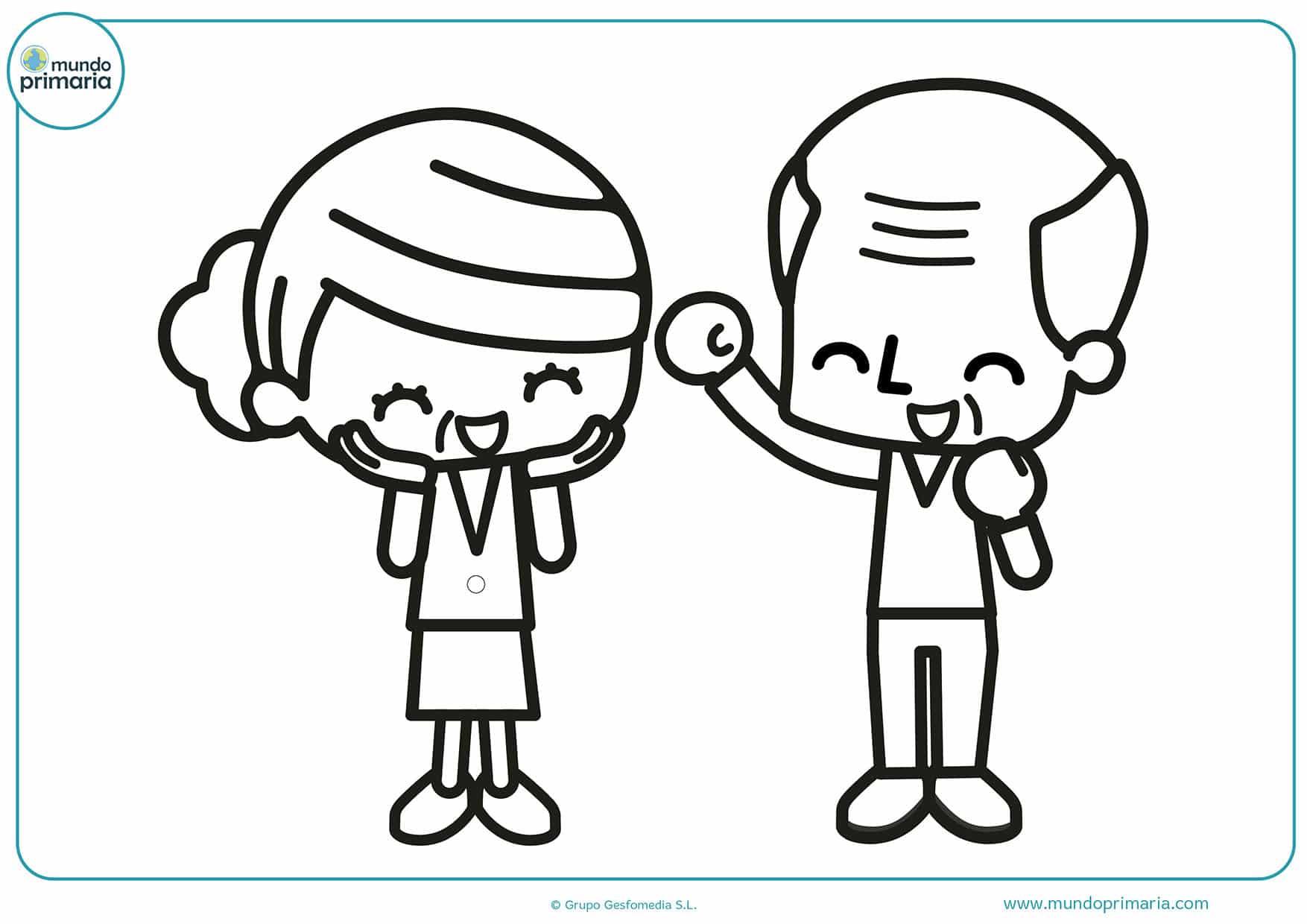 Vistoso Página Para Colorear De Abuelos Regalo - Ideas Creativas ...