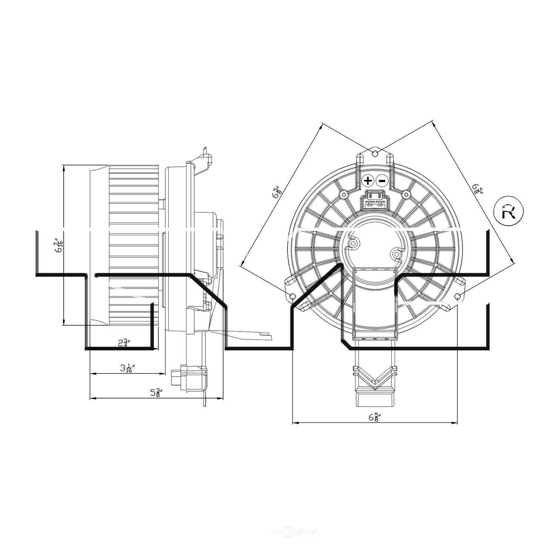 Motor del ventilador hvac para acura rdx honda accord honda civic honda cr v marca tyc número de parte 700260