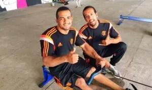 Michel Gomes e seu técnico Franquilin: Apoio, amizade e superação