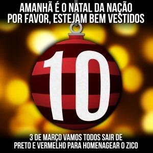 Campanha #BemVestidosNoNatal – Homenagem a Zico