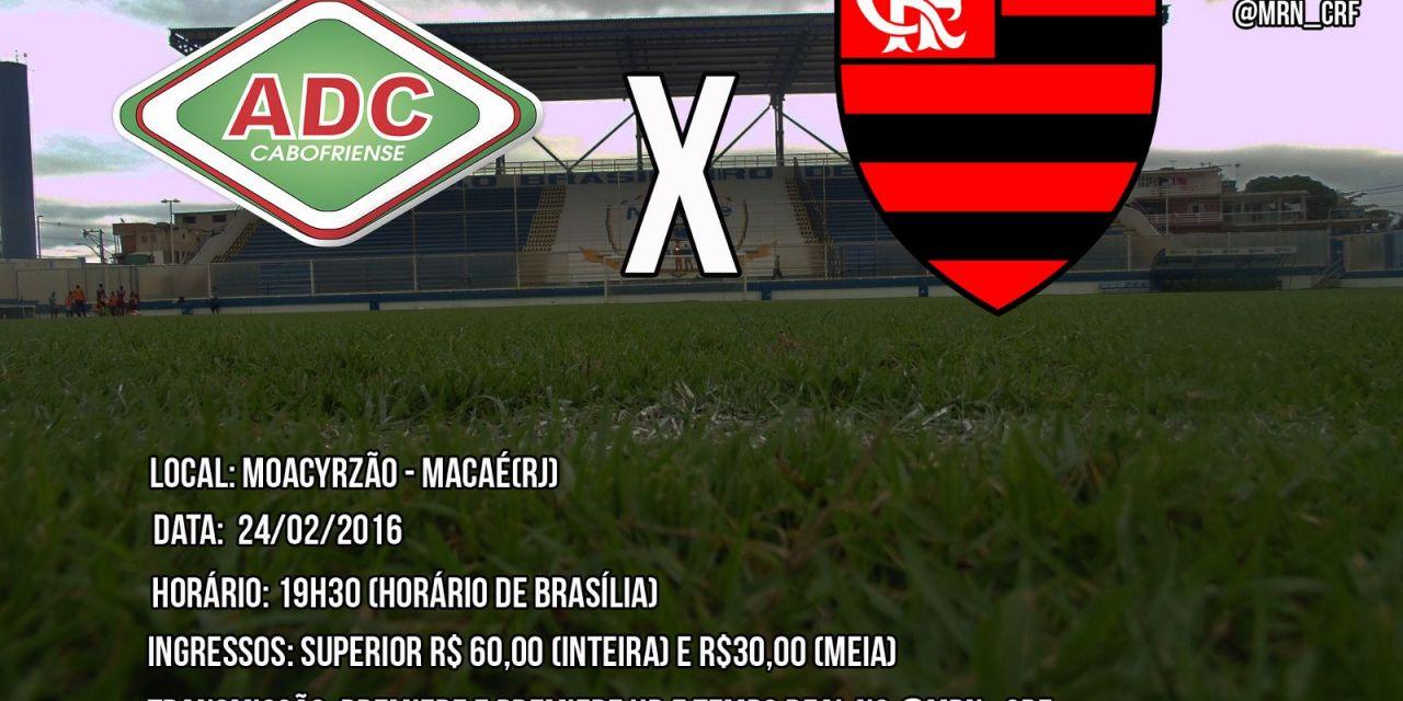 Com oito reservas na equipe, Flamengo enfrenta a Cabofriense nessa quarta