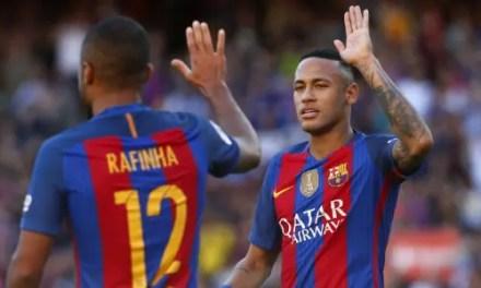 Astros do Barcelona reiteram desejo de jogar no Flamengo um dia