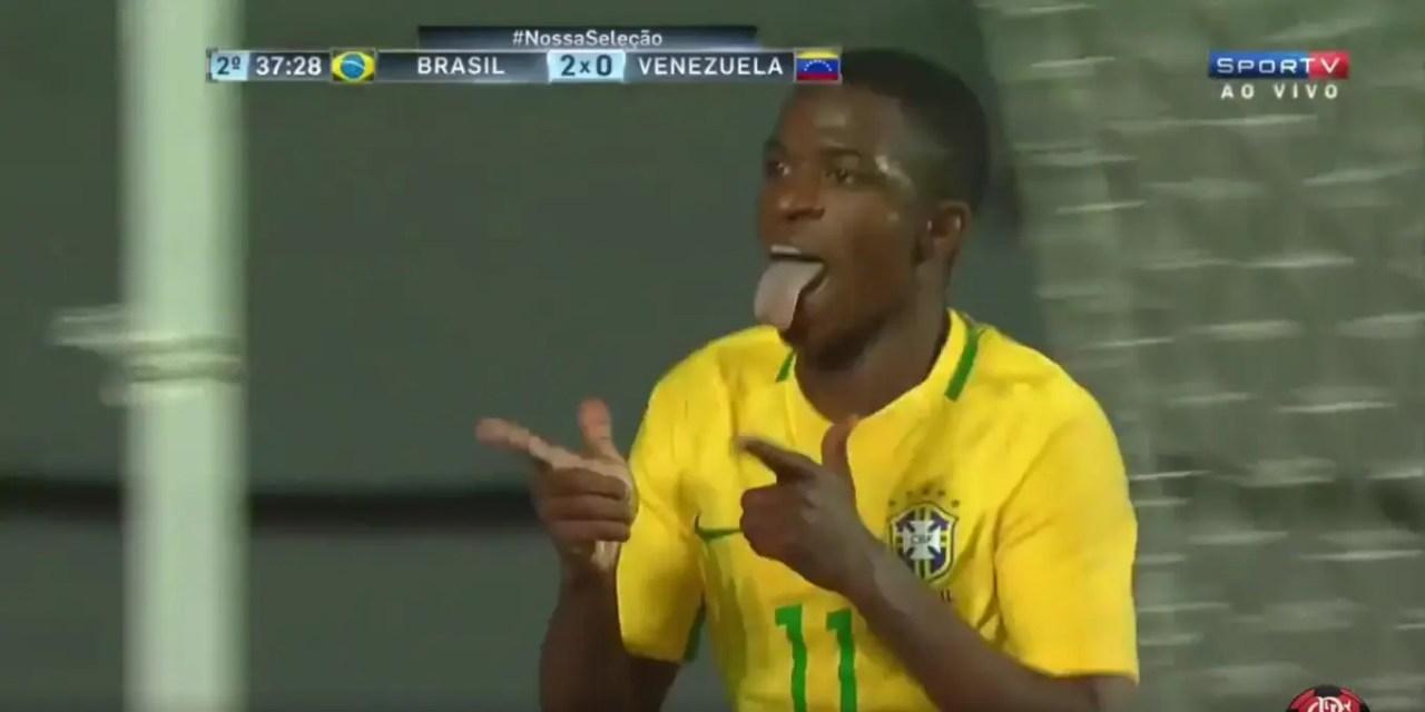 Vinicius Jr. comanda goleada da seleção sub-17