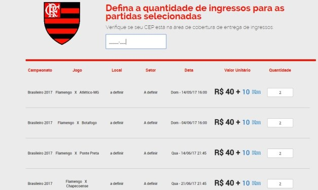 "Parceira do Flamengo oferece ""season tickets"""