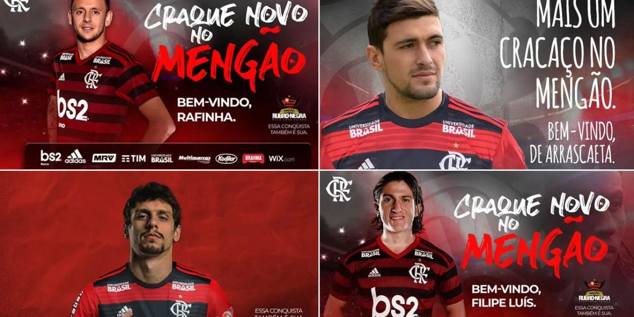 Veja como o Flamengo apresentou os reforços de 2019 no Twitter
