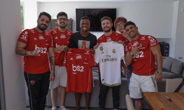 Flamengo eSports visita Vinicius Júnior em Madrid