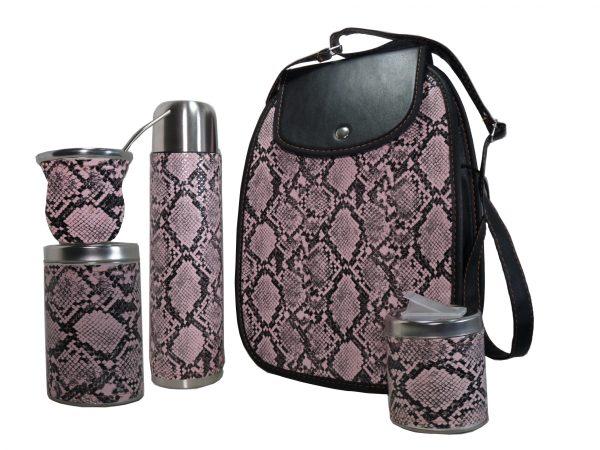 Set matero con diseño boa rosa colección FAR