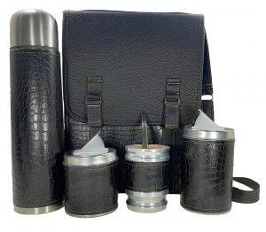 Set matero camping croco negro ventas al mayor y por menor