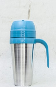 Mate autocebante de Aluminio color azul al por mayor