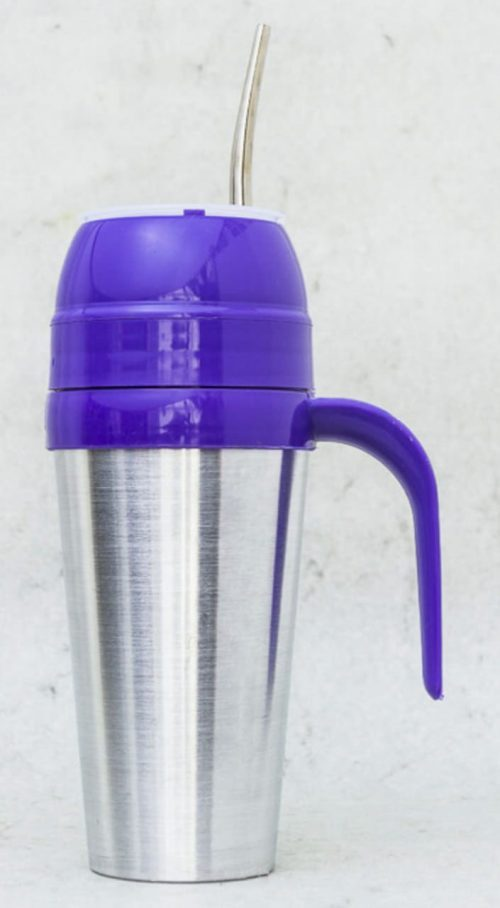 Mate autocebante de Aluminio color violeta