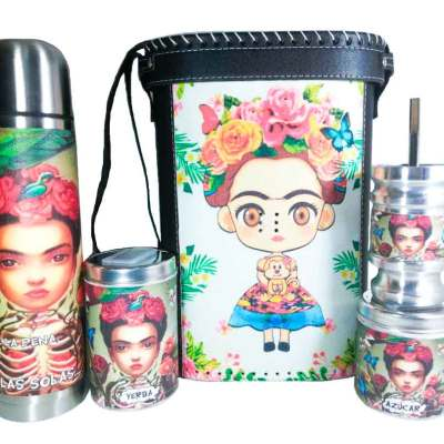 Set matero con diseño de Frida Kahlo colección FARTU