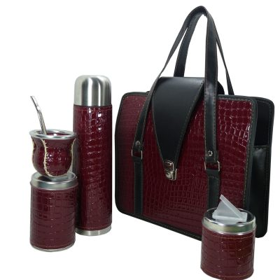 Set matero color croco Bordo colección JACK