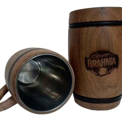 Chopera de madera con grabado laser de Brahma