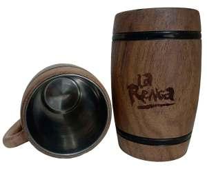 Chopera de madera con grabado laser de La Renga