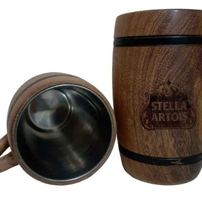 Chopera de madera con grabado laser de Stella