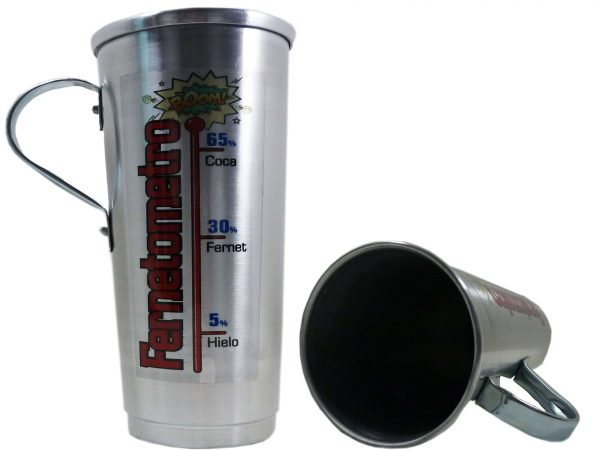 Vaso de aluminio Fernetometro