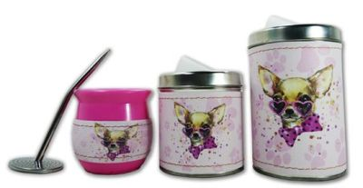 Set de 3 piezas diseño de Chihuahua