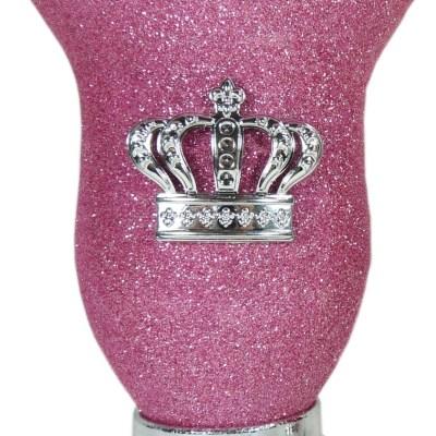 Mate calabaza color rosa glitter con corona por mayor